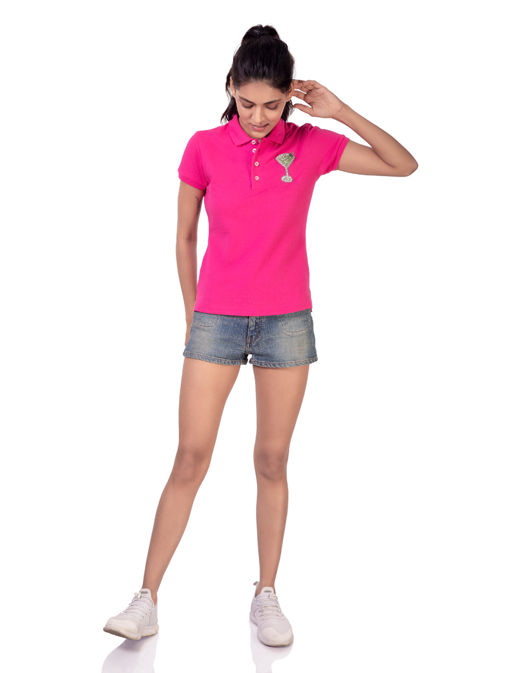 POLO T-SHIRT WITH COCKTAIL GLASS