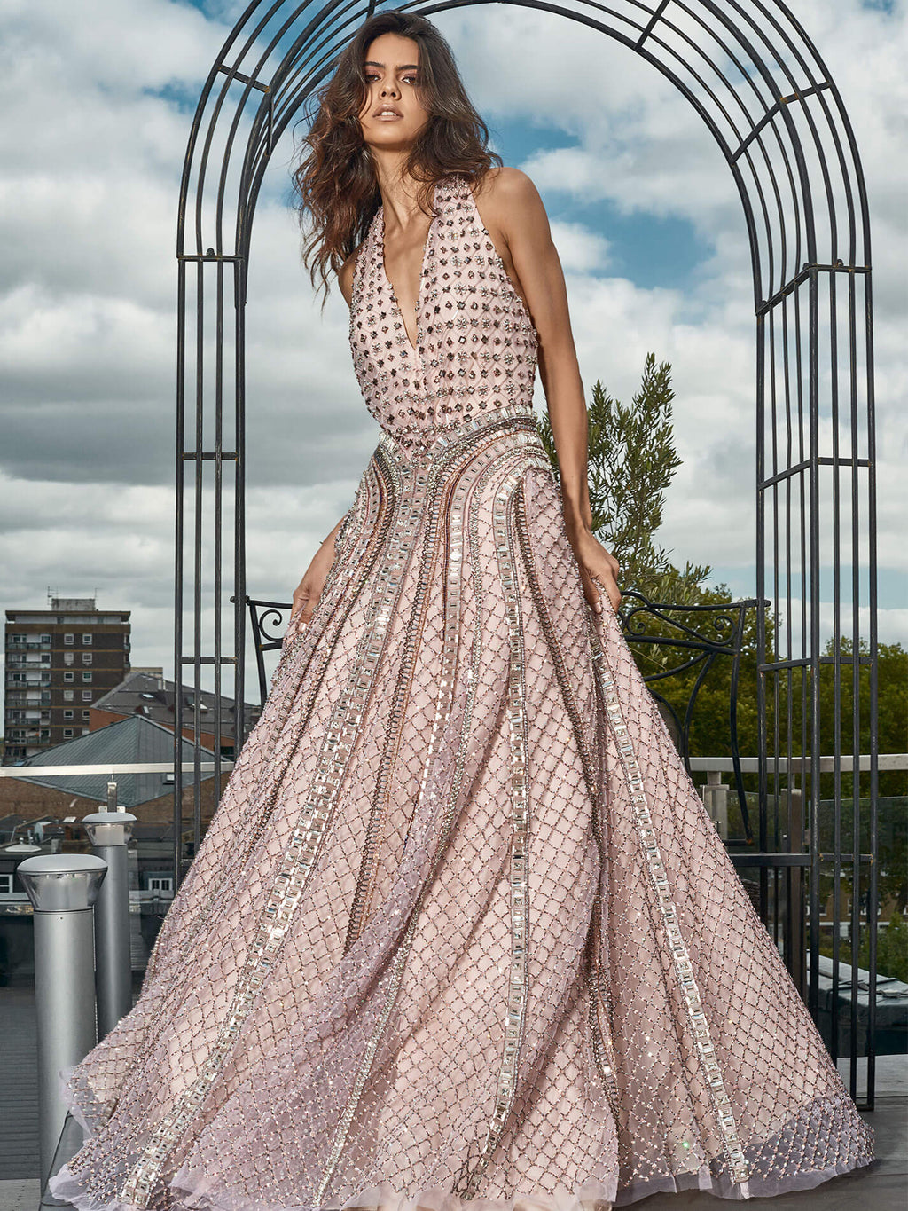 Matrix Pale Pink Gown