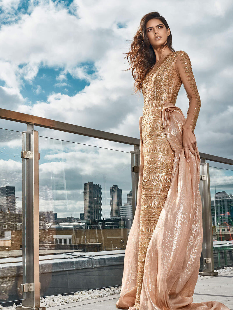 Navajo Rose Gold Gown