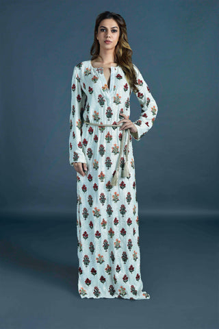 Bejewelled kaftan gown