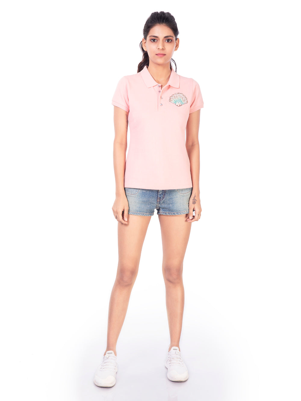 POLO T-SHIRT WITH SHELL MOTIF