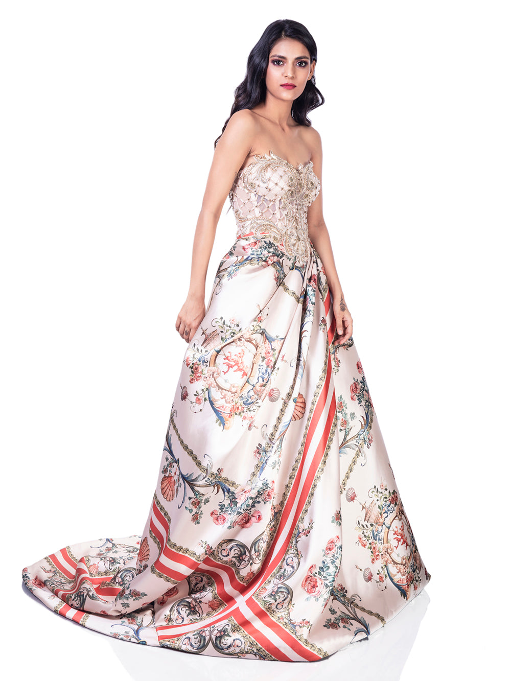 BAROQUE ROSES GOWN