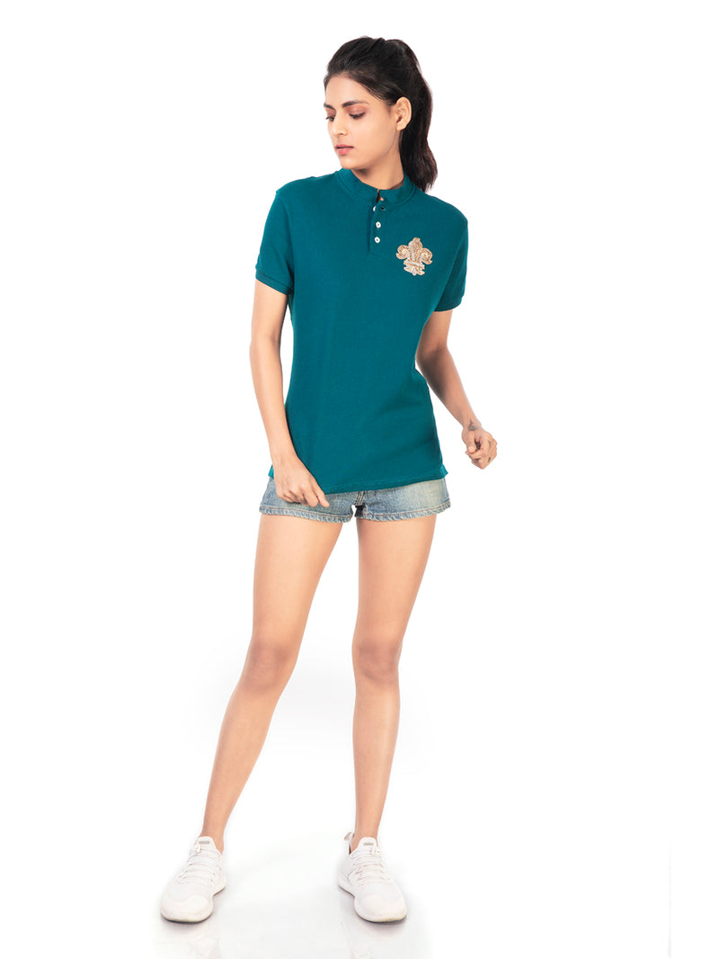 POLO T-SHIRT WITH FLEUR DE LIS