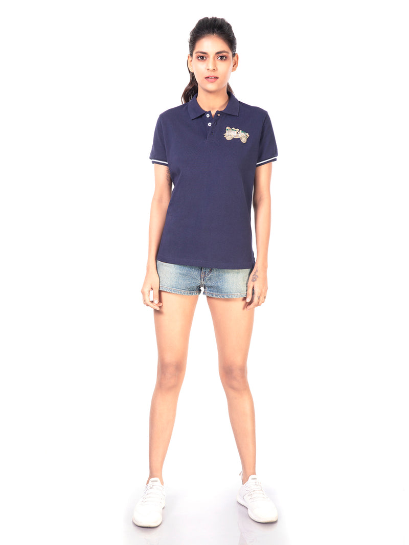 POLO T-SHIRT WITH VINTAGE CAR MOTIF