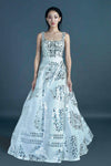 BROKEN MIRROR BALL GOWN
