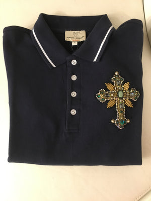 POLO T-SHIRT WITH CROSS MOTIF