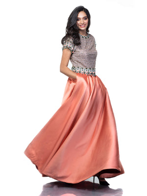 JEWELLED CROP TOP AND SKIRT