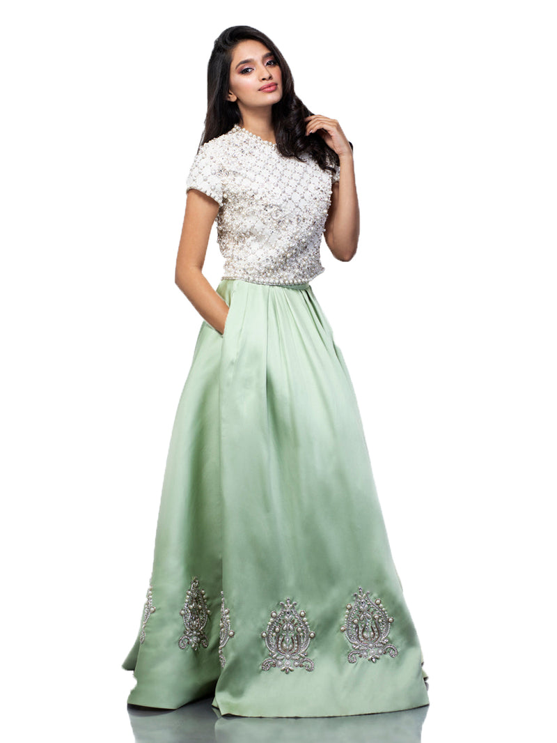 MARGARITE CROP TOP AND SKIRT