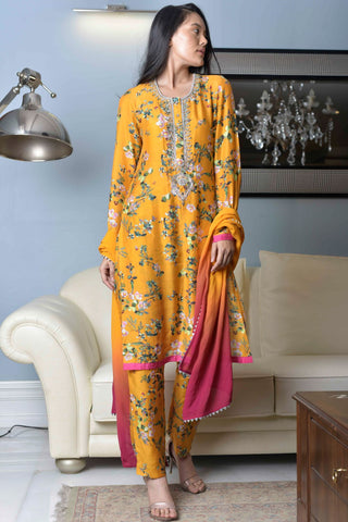 POPPY FLOWER KURTA