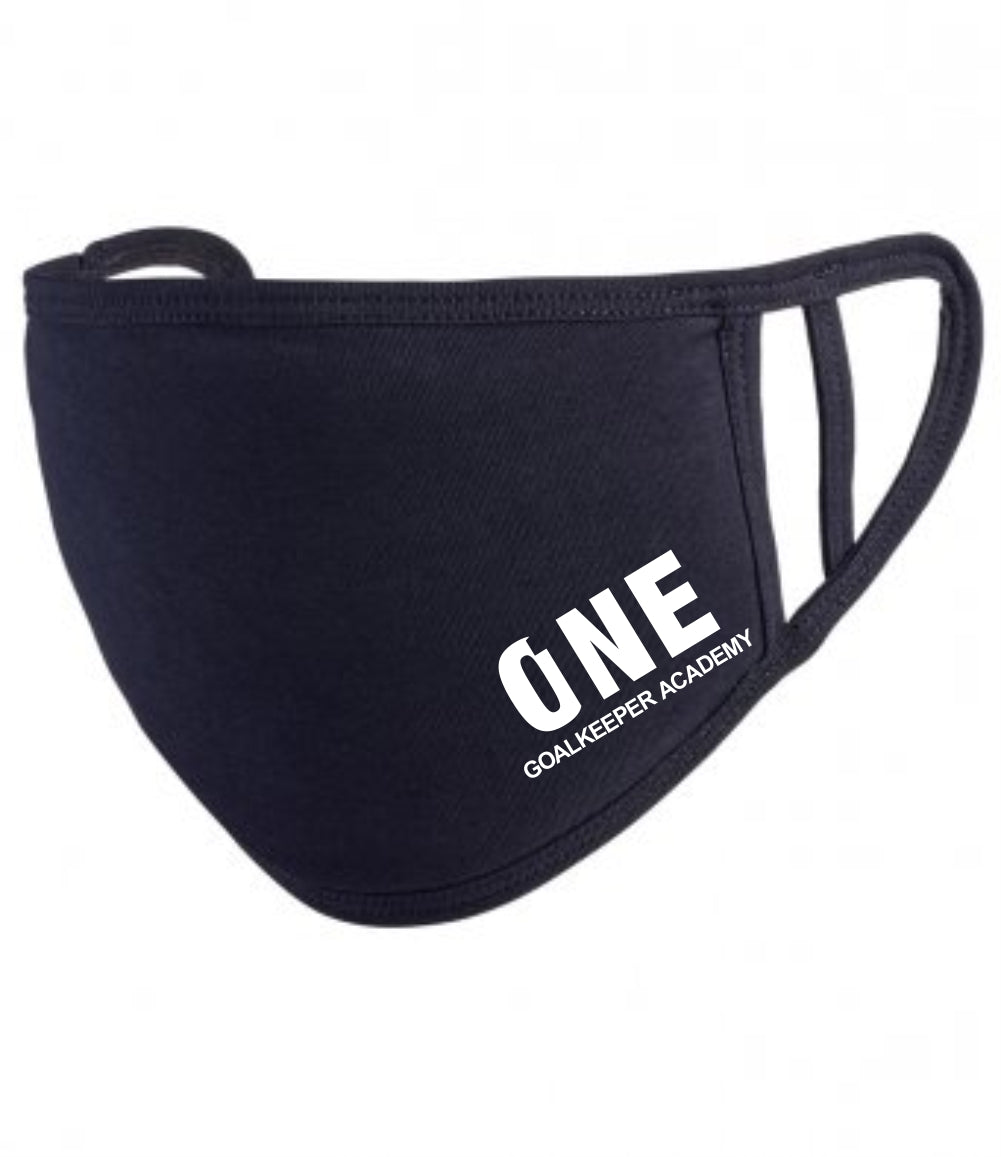 One Goalkeeper Academy Premier Washable 2-Ply Face Cover (Black)