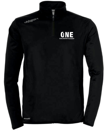 One Goalkeeper Academy Essential 1/4 Zip Top (Black)