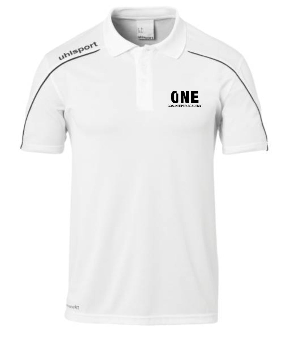 One Goalkeeper Academy Stream 22 Polo Shirt (White/Black)