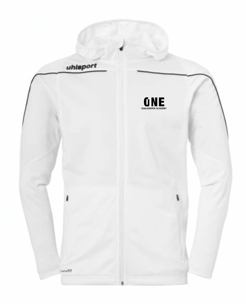 One Goalkeeper Academy Stream 22 Track Hood Jacket (White)