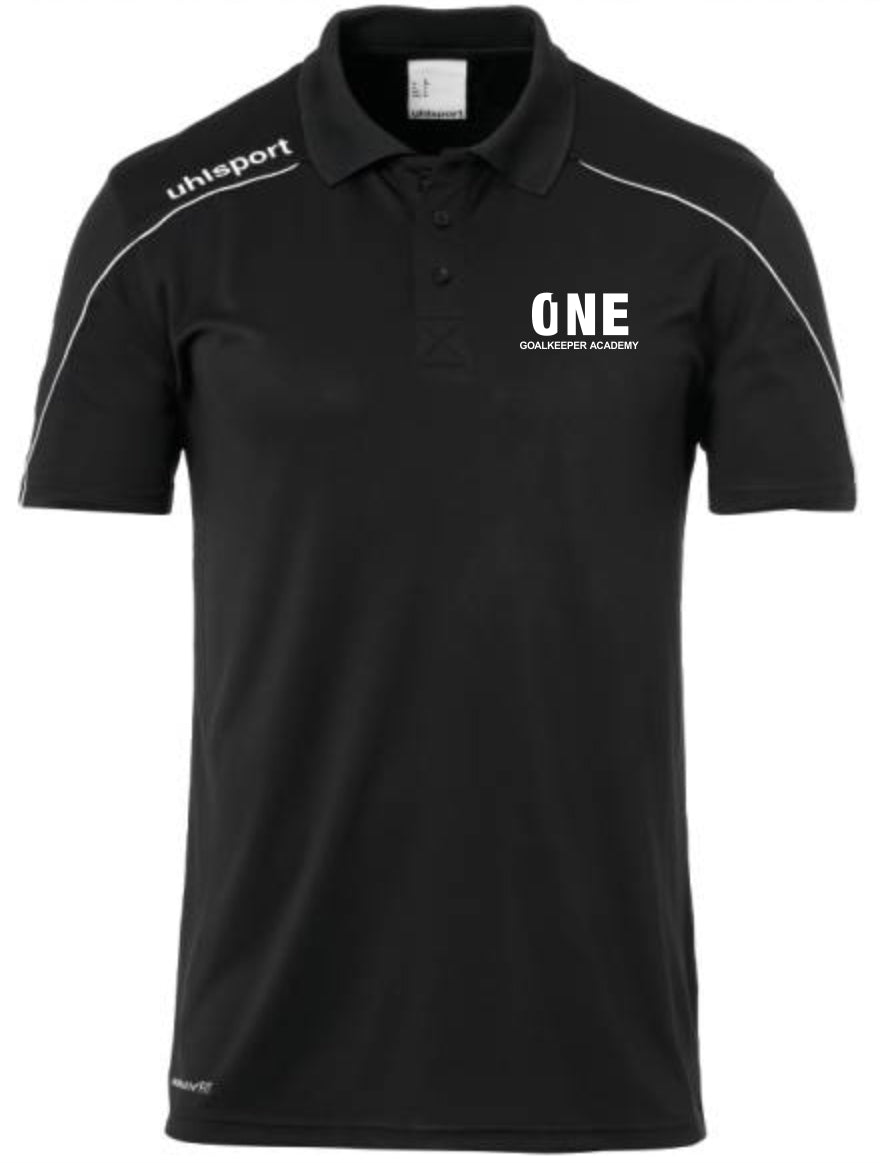 One Goalkeeper Academy Stream 22 Polo Shirt (Black/White)
