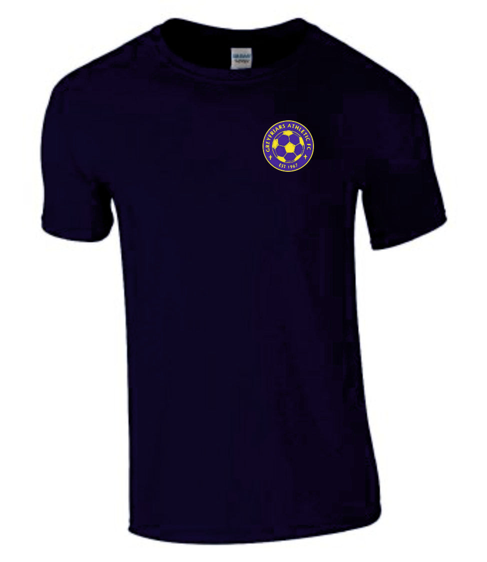 Greyfriars Athletic FC Ringspun T-Shirt - Navy Inc Initials