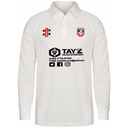 Hambrook CC Grey Nicholls Playing Shirt LS White