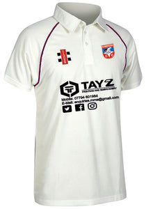 Hambrook CC Grey Nicholls Playing Shirt SS White/Navy