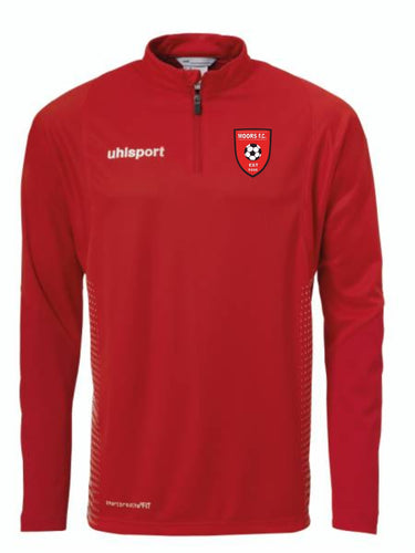 STOCK SALE!!! Score 1/4 Zip Top (Red/White)
