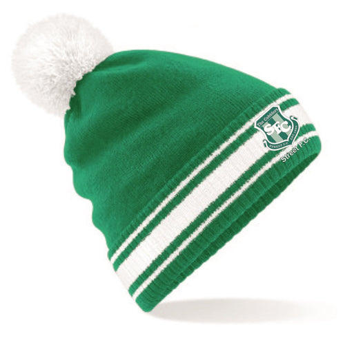 Street FC Beanie - Kelly Green/White