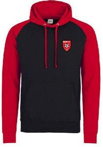Moors Youth Two Tone Hoodie (Black/Red) Inc Initials