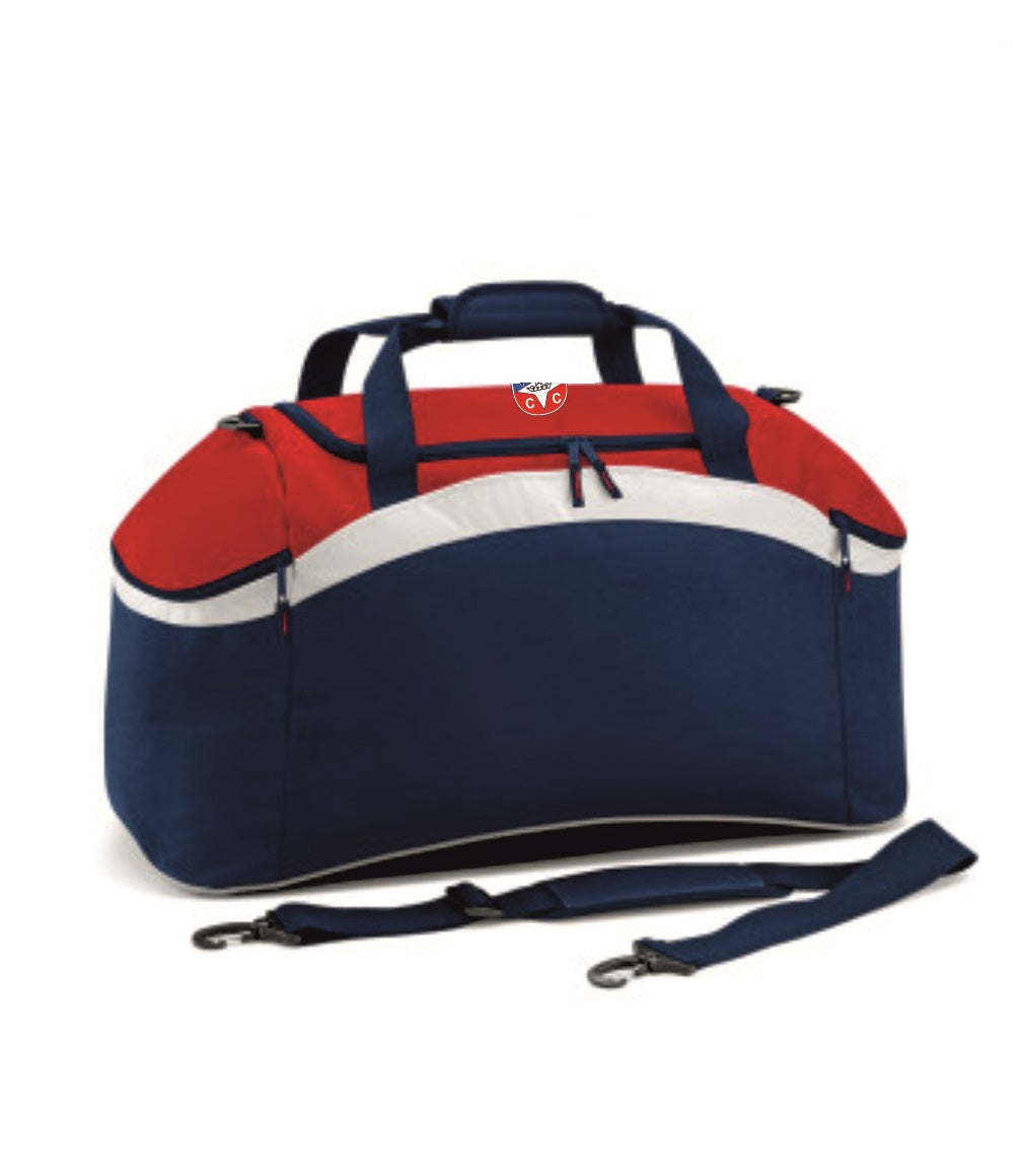 Hambrook CC Kit Bag Inc Initial - Navy/Red/White