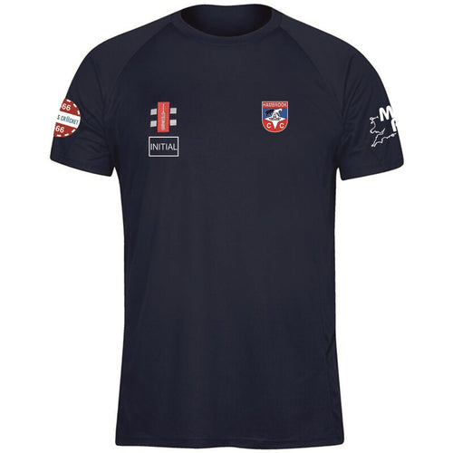 Hambrook CC Grey Nicholls Tech T-Shirt Navy