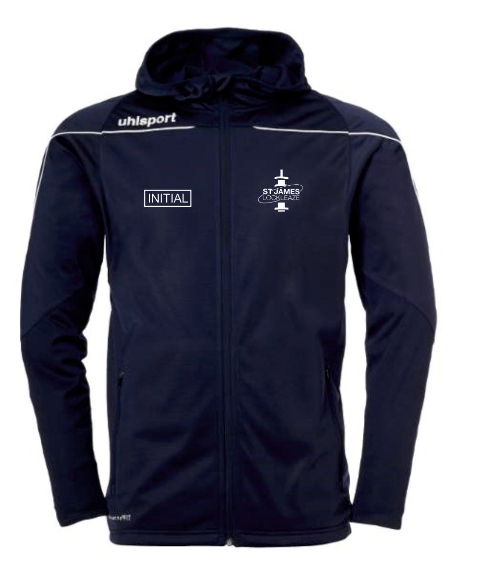 ST James Lockleaze FC Stream 22 Track Hood Jacket Inc Initials (Navy/White)