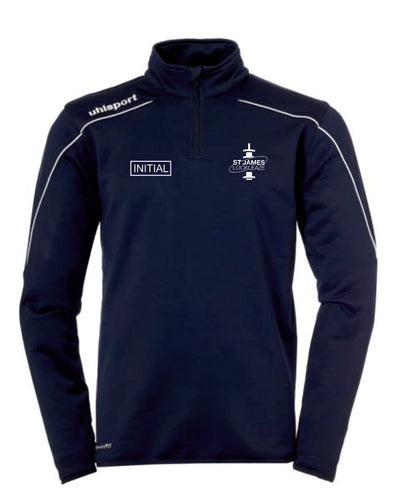 ST James Lockleaze FC Stream 22 1/4 Zip Top Inc Initials - Navy/White