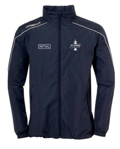 ST James Lockleaze FC Stream 22 All Weather Jacket Inc Initials - Navy/White