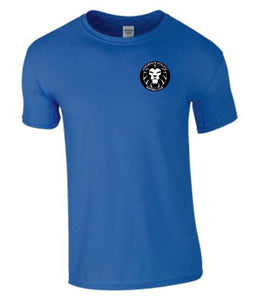 Longreach Athletic FC Ringspun T-Shirt - Royal Inc Initials