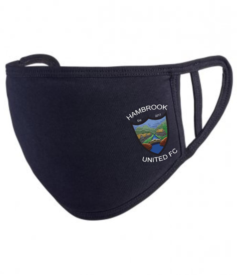 Hambrook United F.C. Premier Washable 2-Ply Face Cover (Black)