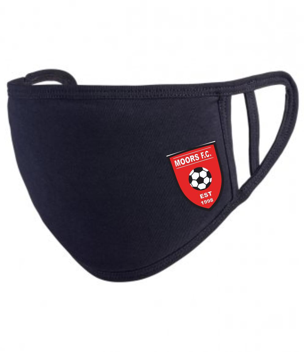 Moors Youth F.C. Premier Washable 2-Ply Face Cover (Black)