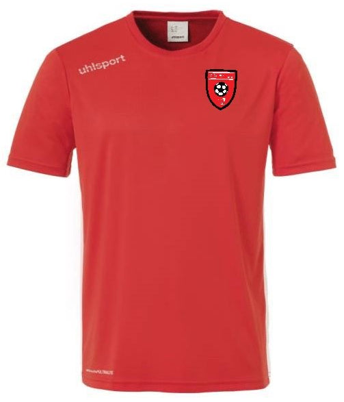 Moors Youth Essential Training Shirt (Red) Inc Initials