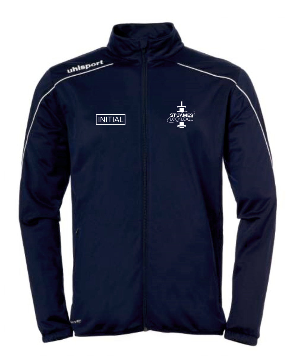 ST James Lockleaze FC Stream 22 Classic Jacket Inc Initials - Navy/White