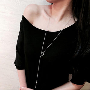 Happy Life Long Chain Necklace