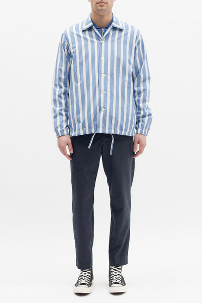 STRIPE COACH SHIRT - BLUE