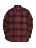 OMBRE FLANNEL SHIRT - RED PLAID