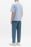 STRIPE SS SHIRT - BLUE