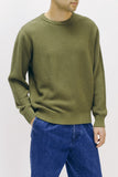 OVERDYED SWEATER - OLIVE(2532)