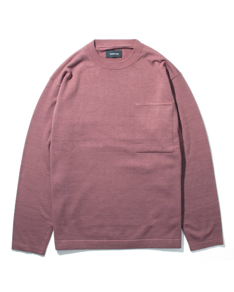 LS POCKET KNIT - BERRY(2533s)