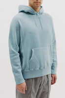 NATURAL DYED HOODIE - DUSTY TEAL