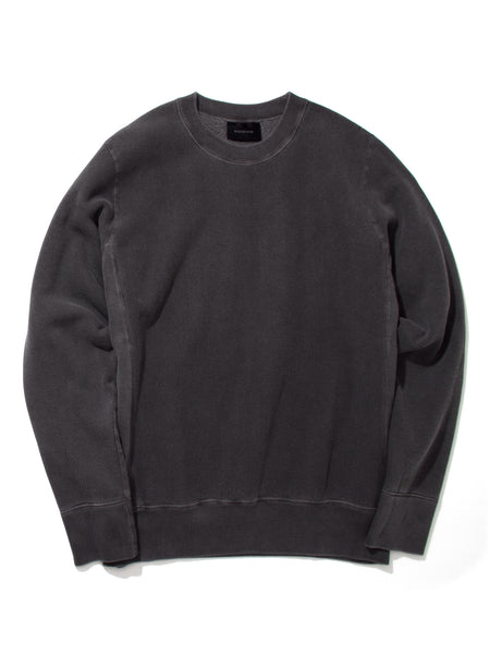 NATURAL DYED CREW - CHARCOAL