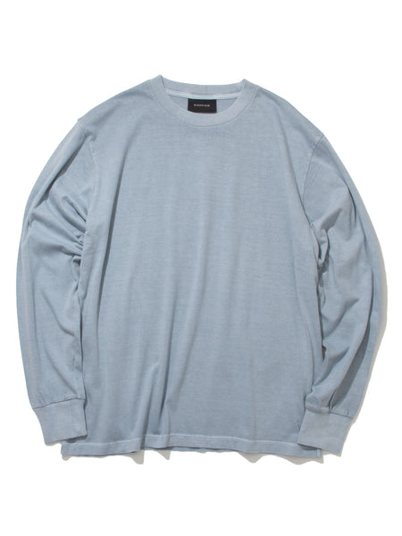 NATURAL DYED BLOCK LS JERSEY - DUSTY TEAL