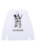 MG DOG LS TEE - WHITE