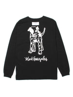 MG DOG LS TEE - BLACK