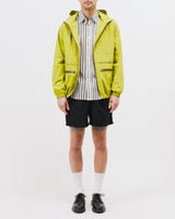 ZIP HOODED JACKET - CHARTREUSE