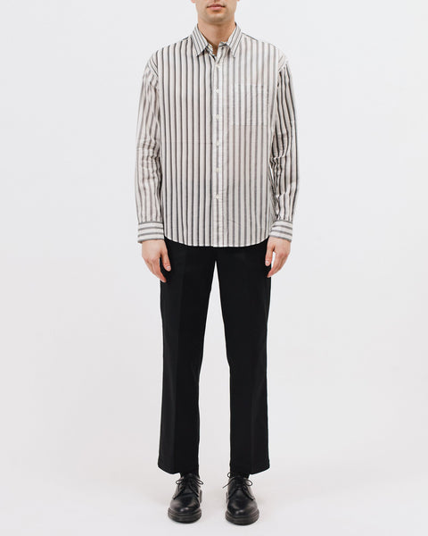 STRIPE LS SHIRT - GREY STRIPE