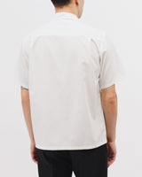 MESH SS SHIRT - NATURAL WHITE