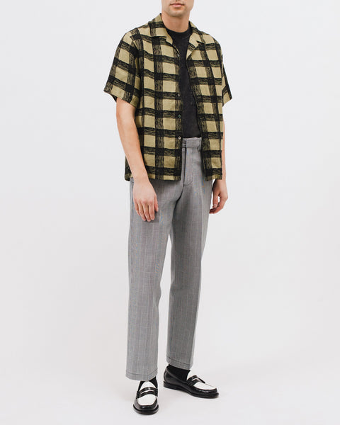 BRUSH LINEN SS SHIRT - OLIVE