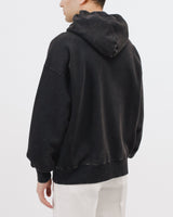 NATURAL DYED HOODIE FLEECE - GRAPHITE